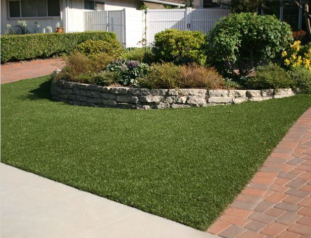 artificial grass front yard landscaping